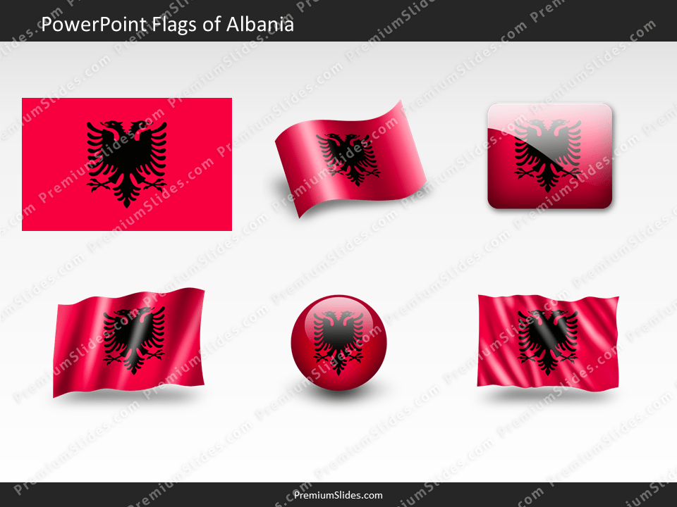 Free Albania Flag PowerPoint Template