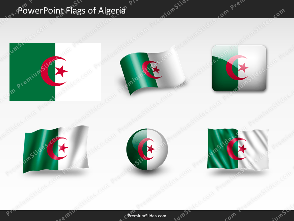 Free Algeria Flag PowerPoint Template