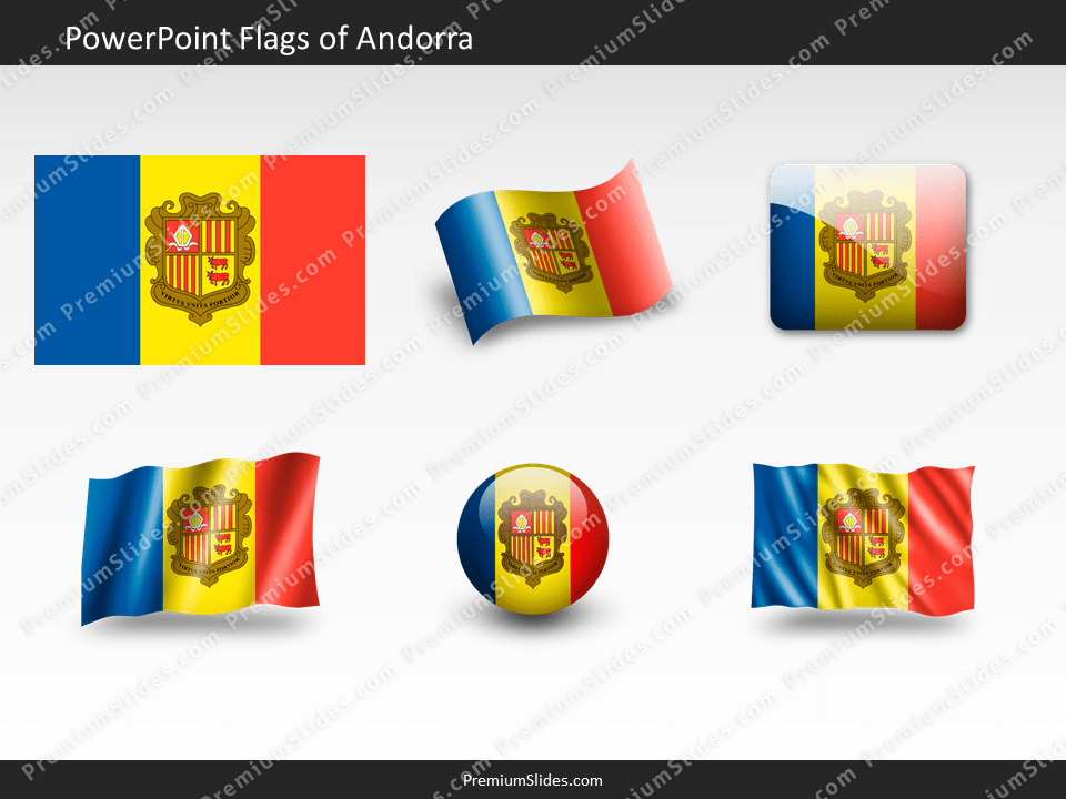 Free Andorra Flag PowerPoint Template