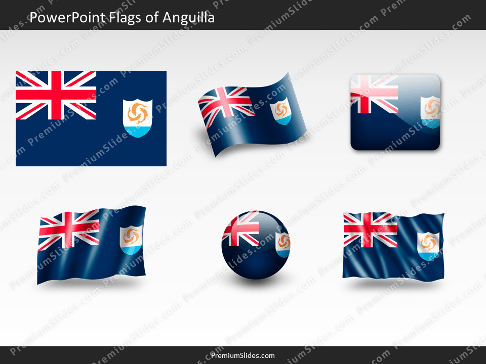 Free Anguilla Flag PowerPoint Template