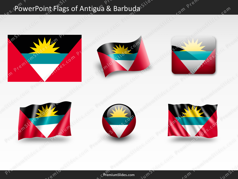 Free Antigua-Barbuda Flag PowerPoint Template