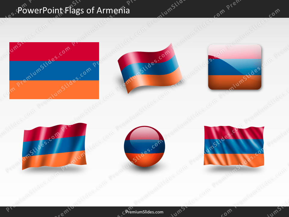 Free Armenia Flag PowerPoint Template