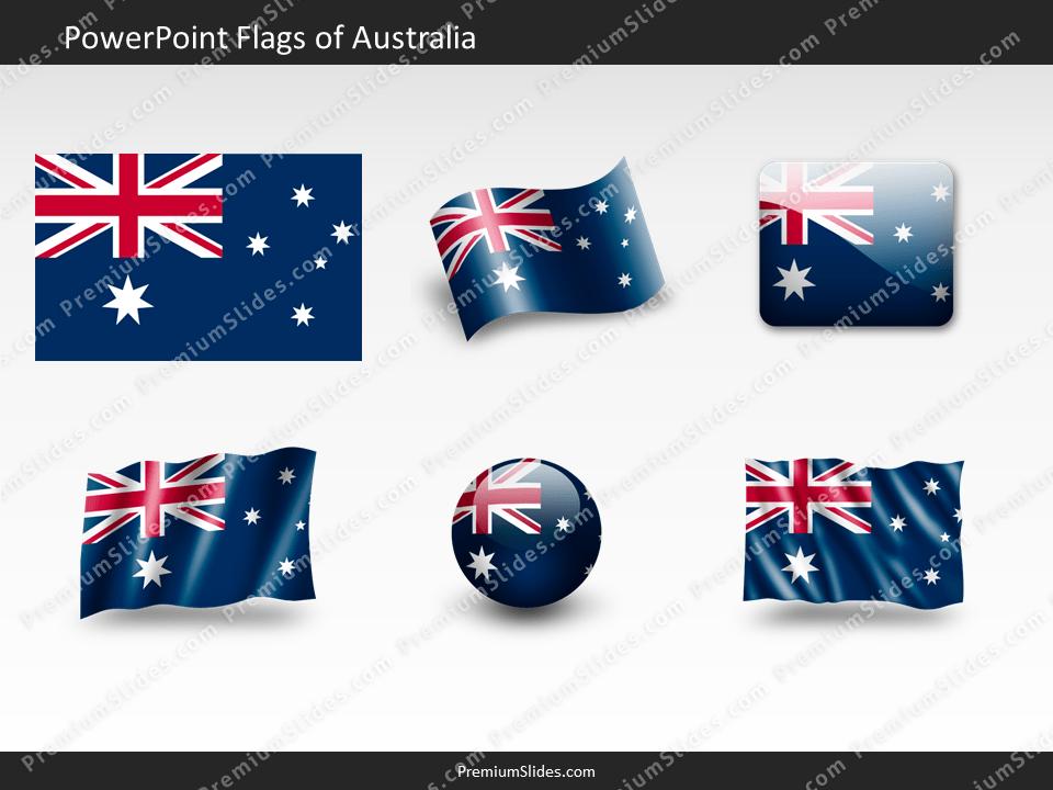 Free Australia Flag PowerPoint Template