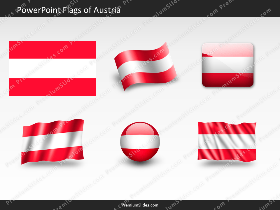 Free Austria Flag PowerPoint Template