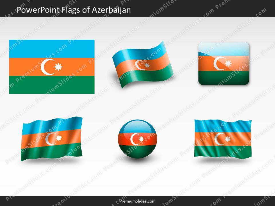 Free Azerbaijan Flag PowerPoint Template