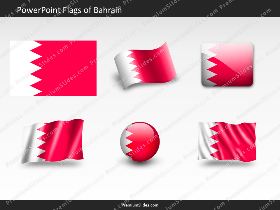 Free Bahrain Flag PowerPoint Template