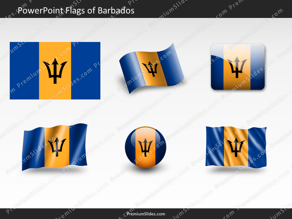 Free Barbados Flag PowerPoint Template