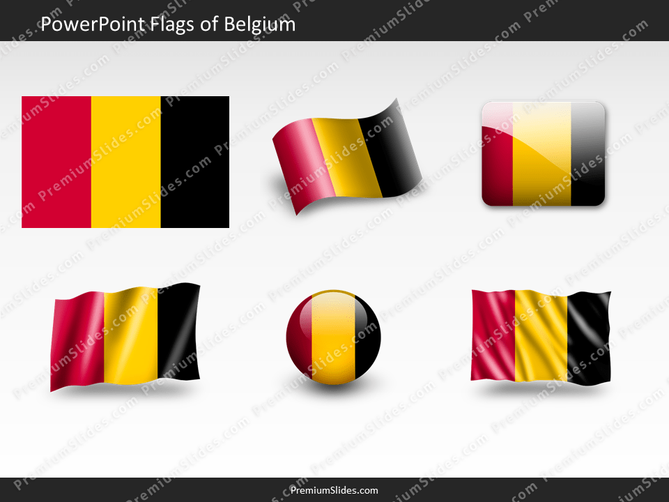 Free Belgium Flag PowerPoint Template