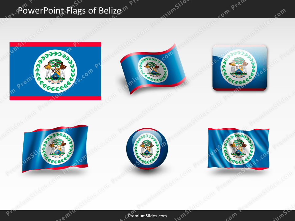 Free Belize Flag PowerPoint Template