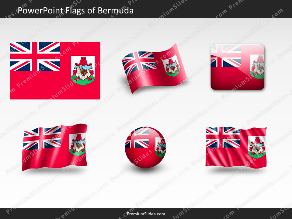 Free Bermuda Flag PowerPoint Template