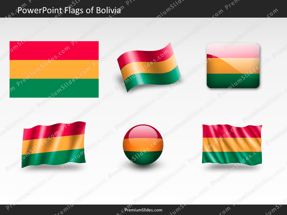 Free Bolivia Flag PowerPoint Template