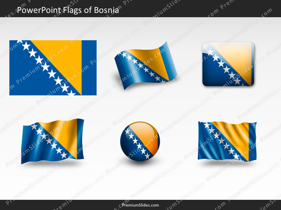 Free Bosnia Flag PowerPoint Template