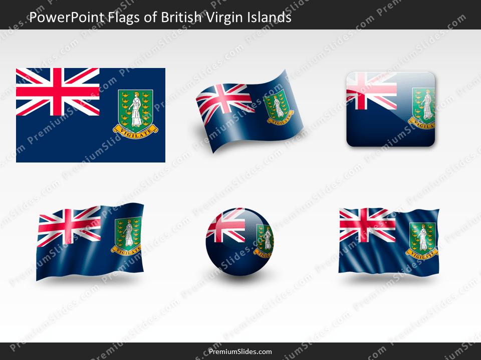 Free British-Virgin-Islands Flag PowerPoint Template