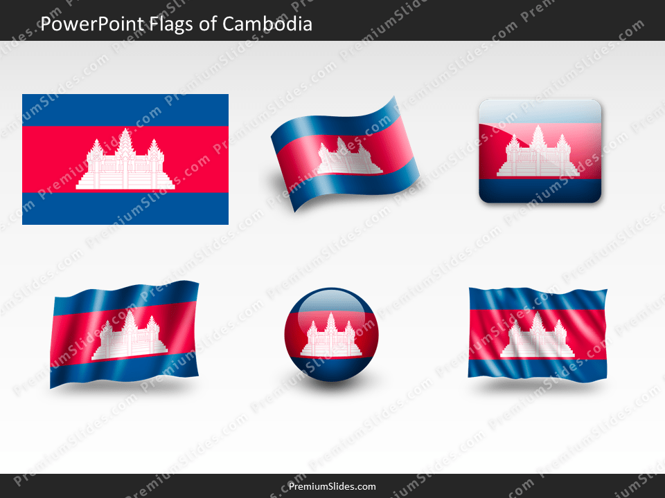 Free Cambodia Flag PowerPoint Template