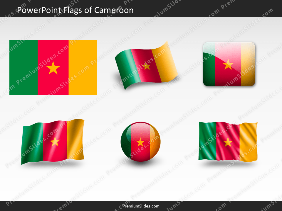 Free Cameroon Flag PowerPoint Template
