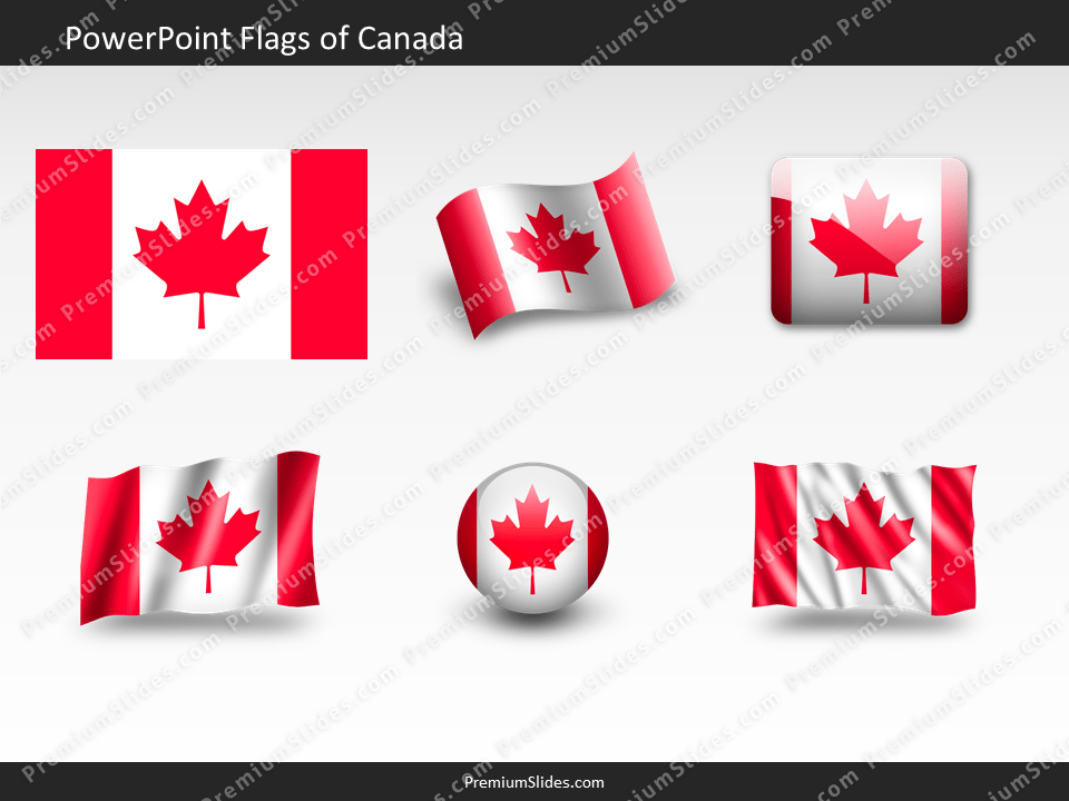 Free Canada Flag PowerPoint Template