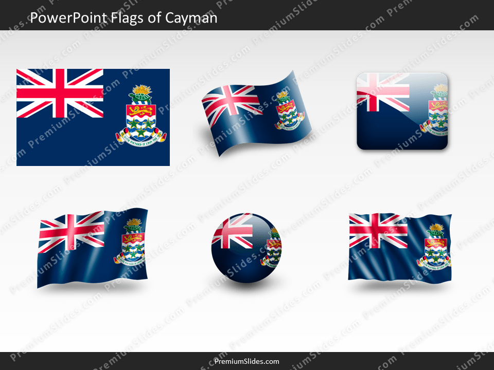 Free Cayman Flag PowerPoint Template