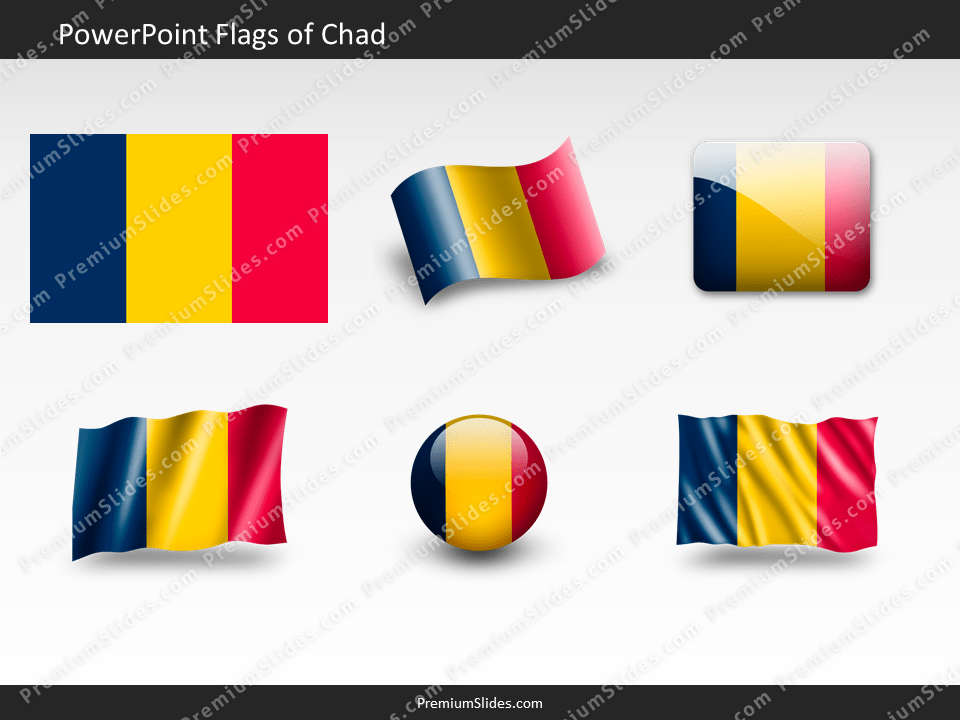 Free Chad Flag PowerPoint Template