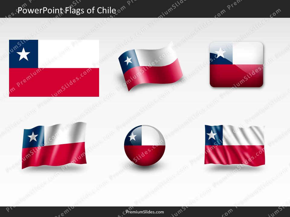 Free Chile Flag PowerPoint Template