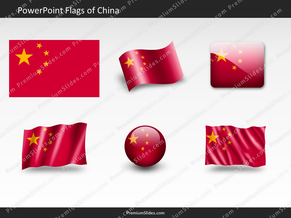 Free China Flag PowerPoint Template