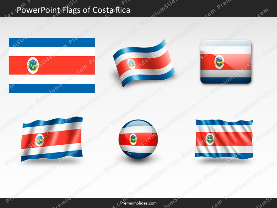 Free Costa-Rica Flag PowerPoint Template