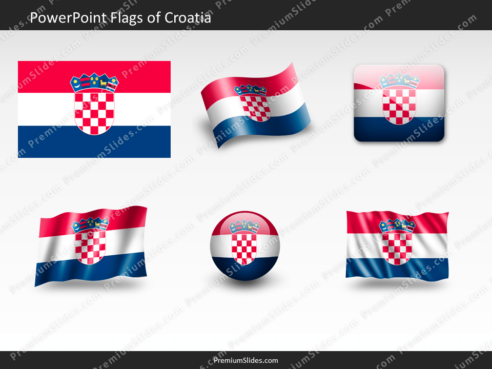 Free Croatia Flag PowerPoint Template