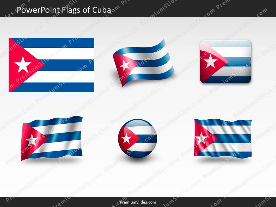 Free Cuba Flag PowerPoint Template