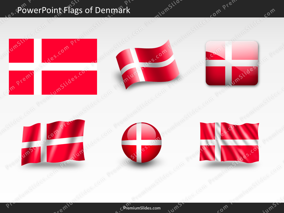 Free Denmark Flag PowerPoint Template