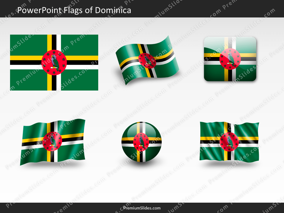 Free Dominica Flag PowerPoint Template