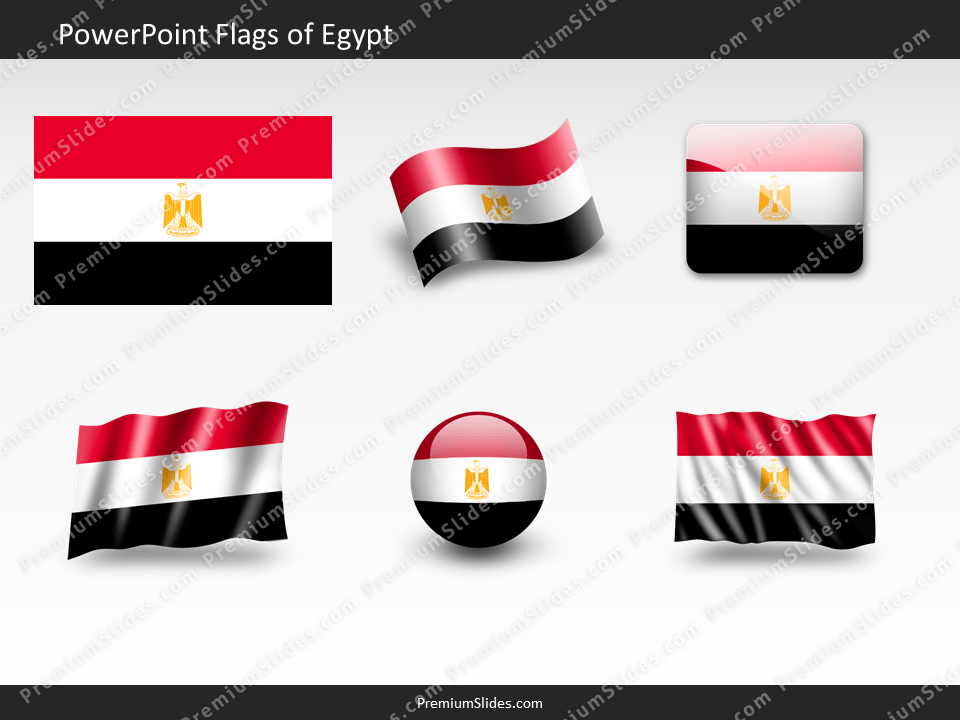 Free Egypt Flag PowerPoint Template