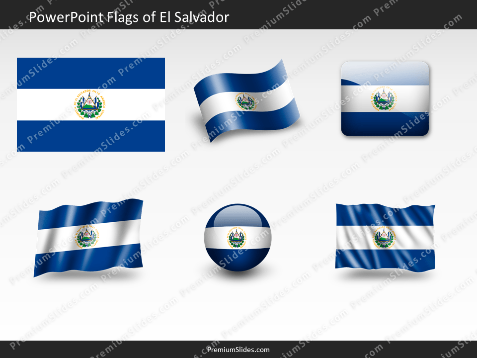 Free El-Salvador Flag PowerPoint Template
