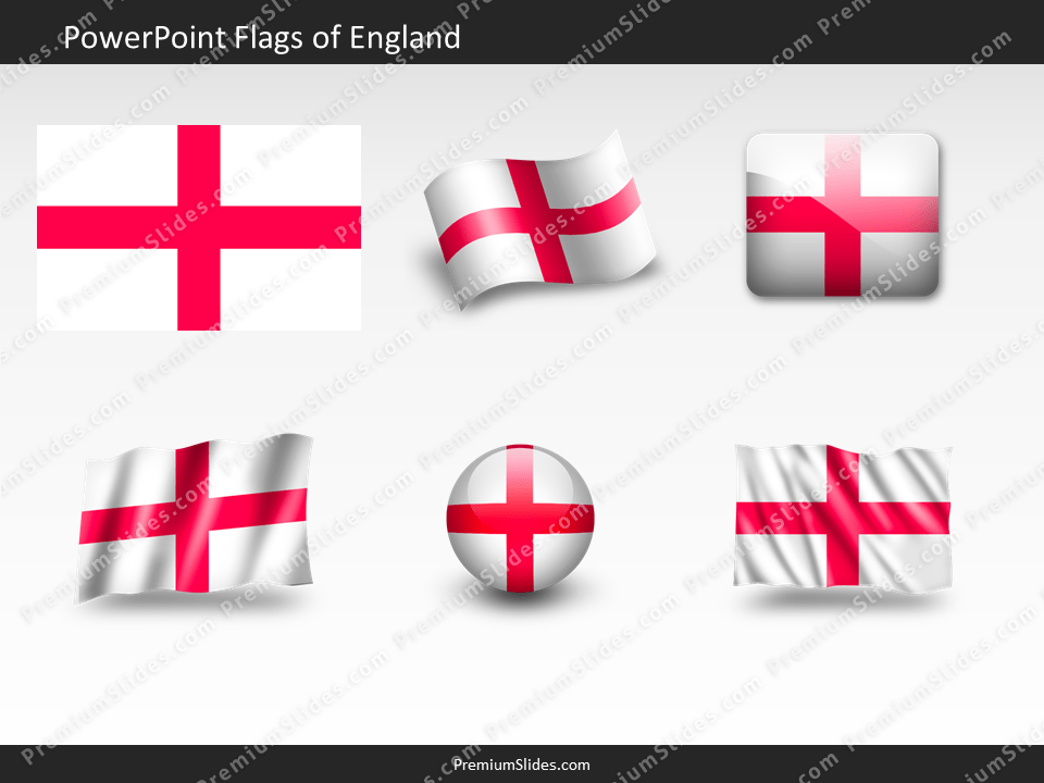 Free England Flag PowerPoint Template