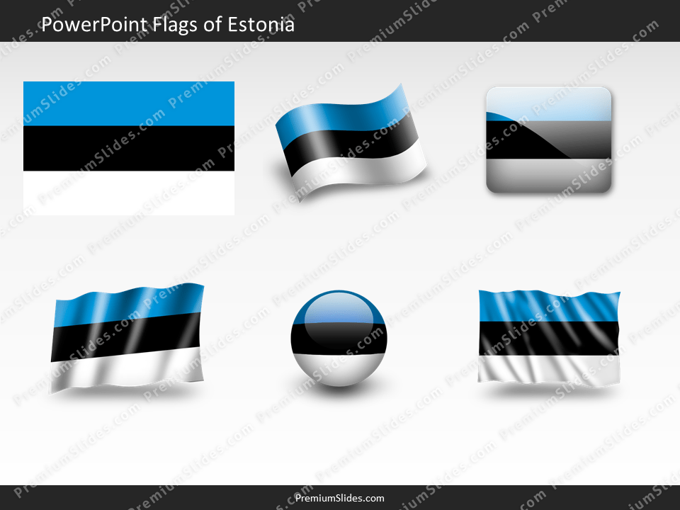 Free Estonia Flag PowerPoint Template