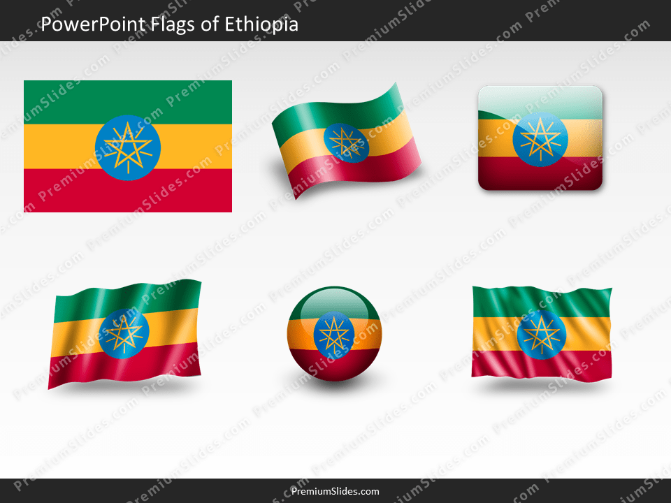Free Ethiopia Flag PowerPoint Template