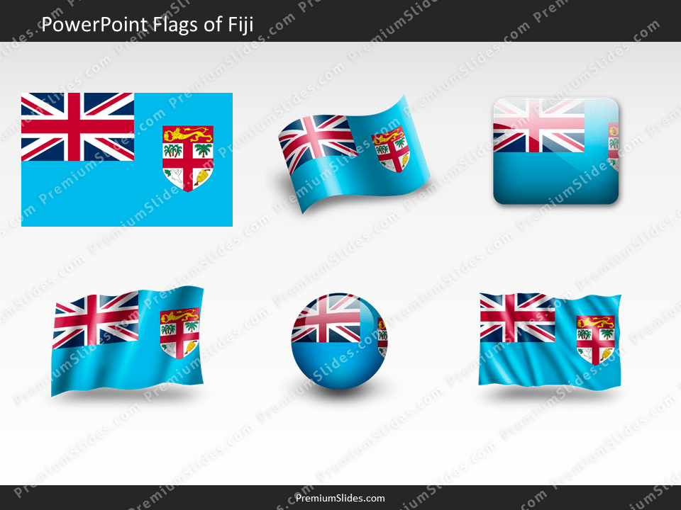 Free Fiji Flag PowerPoint Template