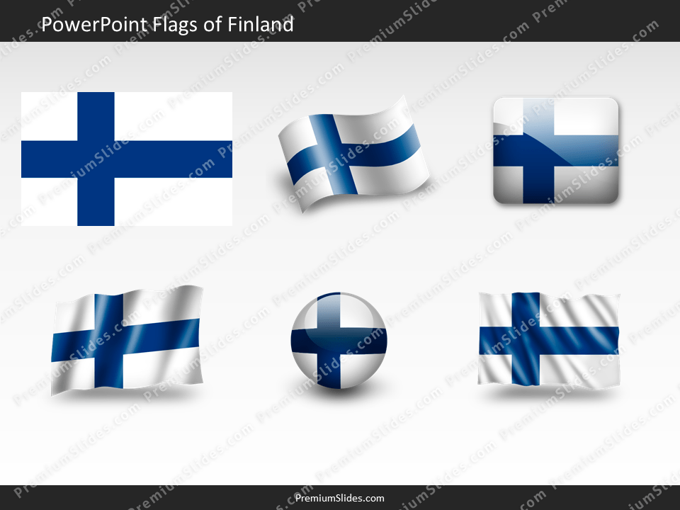 Free Finland Flag PowerPoint Template
