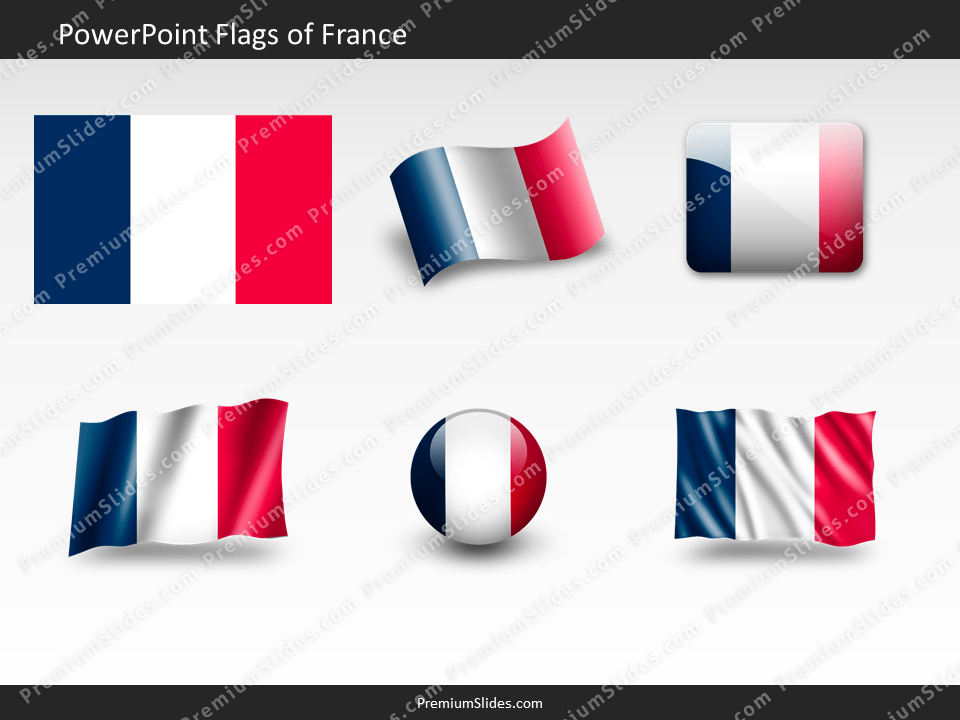 Free France Flag PowerPoint Template