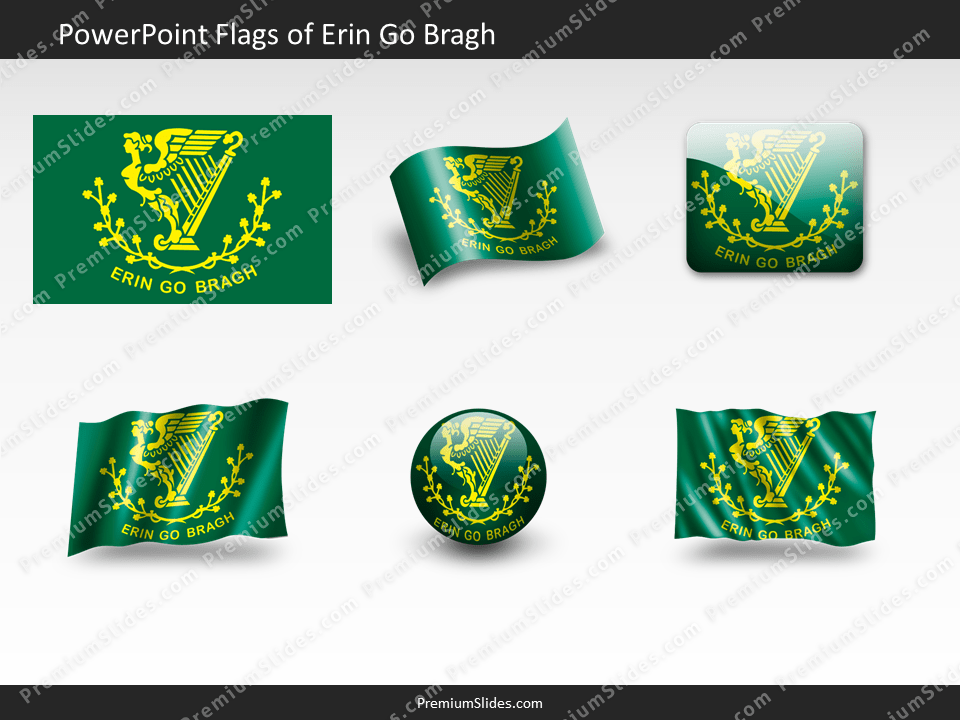 Free Go-Bragh Flag PowerPoint Template