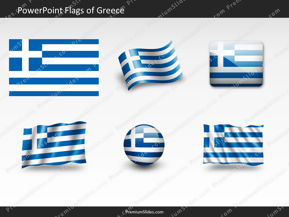 Free Greece Flag PowerPoint Template