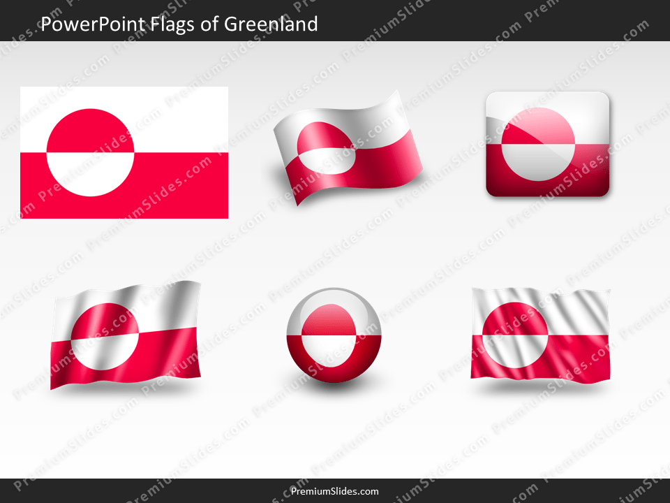 Free Greenland Flag PowerPoint Template