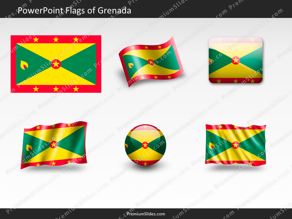 Free Grenada Flag PowerPoint Template