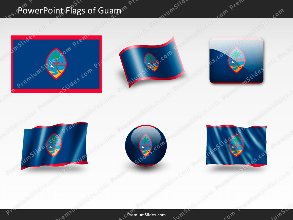 Free Guam Flag PowerPoint Template