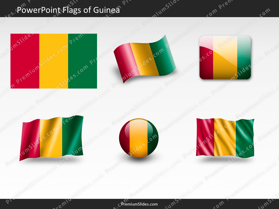 Free Guinea Flag PowerPoint Template