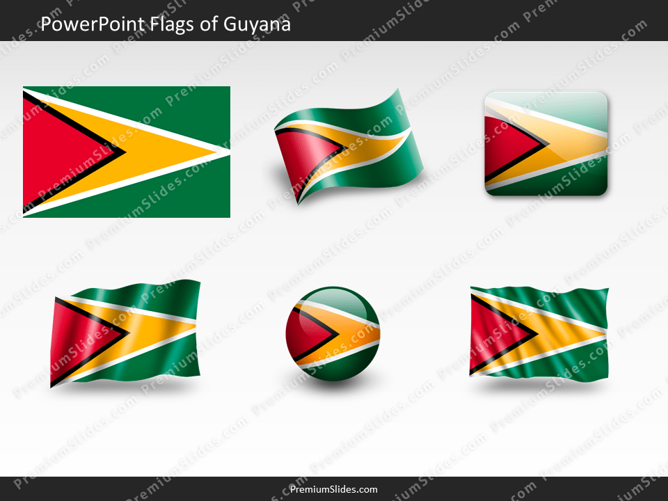 Free Guyana Flag PowerPoint Template