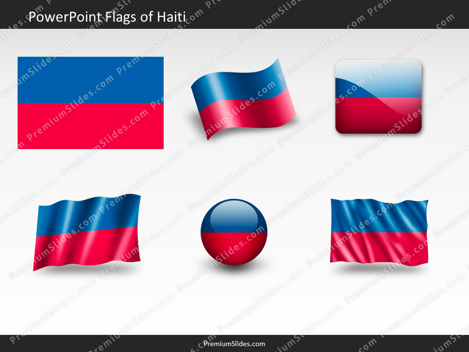 Free Haiti Flag PowerPoint Template