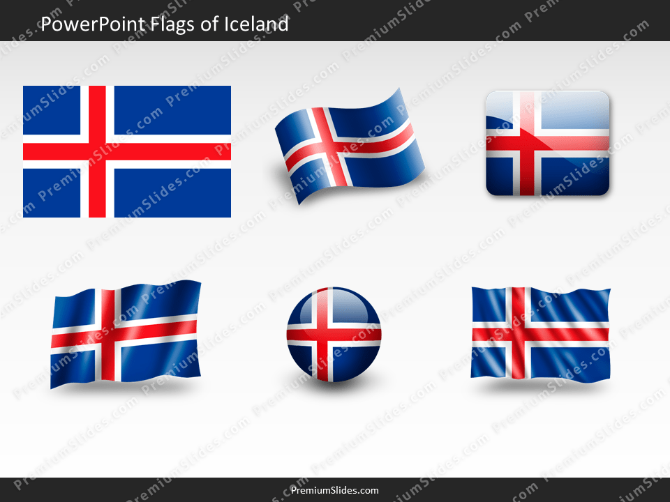 Free Iceland Flag PowerPoint Template