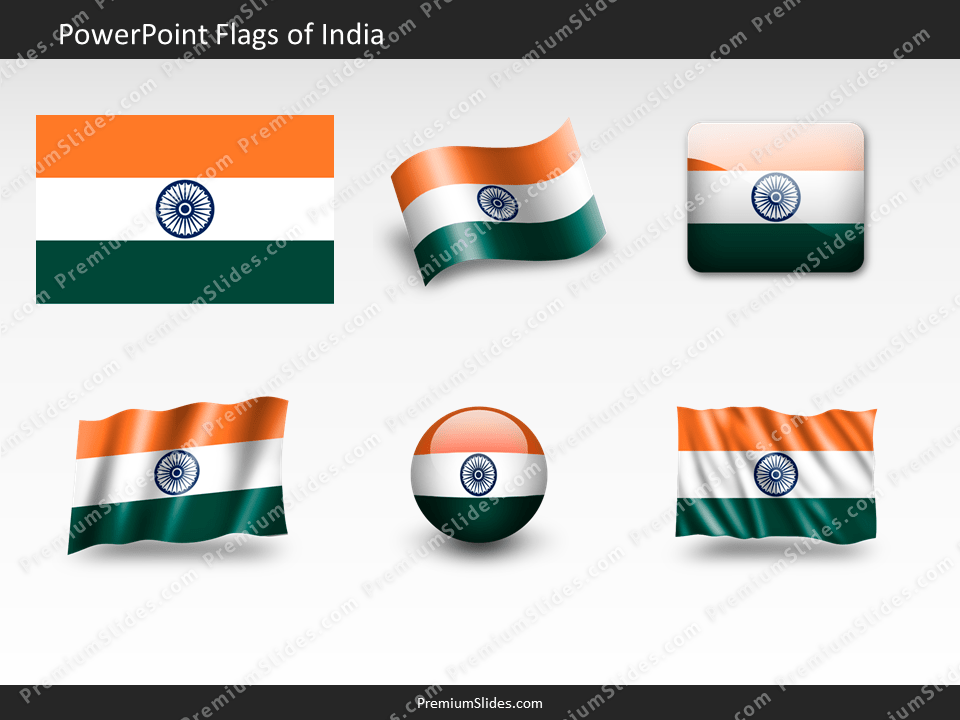 Free India Flag PowerPoint Template