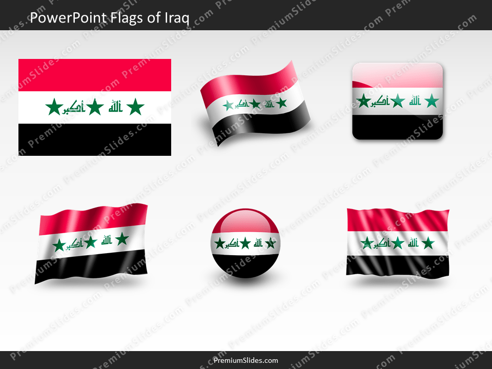 Free Iraq Flag PowerPoint Template