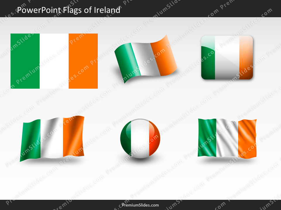Free Ireland Flag PowerPoint Template