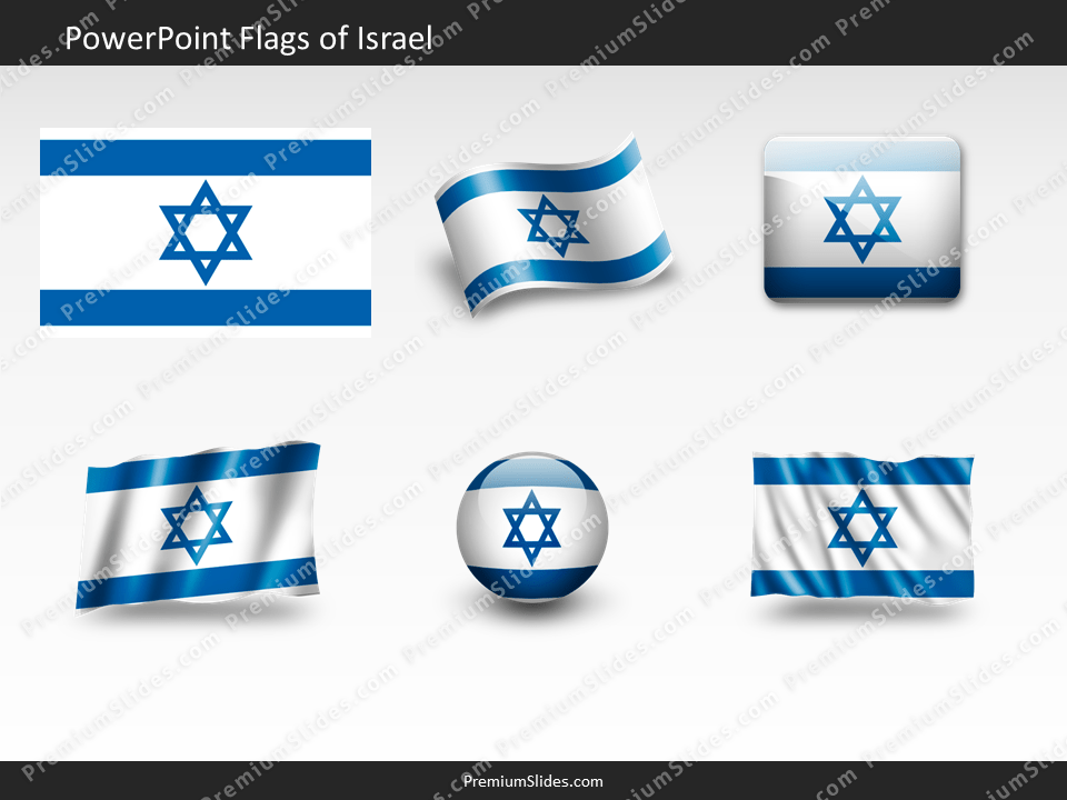 Free Israel Flag PowerPoint Template